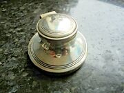 Antique Edwardian Sterling Silver Capstan Inkwell Chester 1919 Robert Pringle