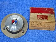 1959 Ford Center Horn Ring Ornament And Back Plate Nos