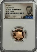 2020 S Proof Lincoln Penny Ngc Pf70 Rd Er Ultra Cameo Red 1c Portrait One Cent