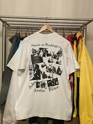 Vintage 90s Dr. Martin Luther King 30th Anniversary March On Washington T Xl