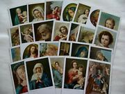 Impressive Lot Of 25 Catholic Holy Cards Traditional Religious Masterpieces S13