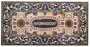 Scagliola Inlay Marble Dining Table Side Top And Free Kitchen Serving Plate Gifts