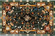 4and039x2and039 Marble Dining Table Top Rare Pietradure Mosaic Inlay Home Decor H1631
