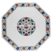 Marble Dining Table Top Multi Inlaid Floral Multi Kitchen Interior Decor H1730