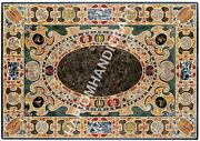 2.5and039x5and039 Marble Dining Coffee Center Table Top Inlaid Pietradura Mosaic Furniture