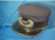 Replica1880s Police Chief Visor Cap W Bullion Badge On Front All Sizes Avialable