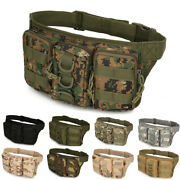 Camouflage Belt Waist Bag Sport Bumbag Military Tactical Molle Fanny Pack Pouch