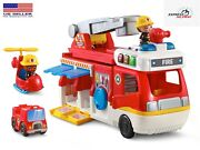 Helping Heroes Fire Station Playset Two Firefighters Vtech New Music Sounds Free