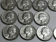 Roll Of 40 U.s. 90 Silver Quarters From 1877 To 1964 Standing Liberty And Washin