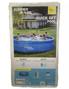 Summer Waves 15ft X 36in Quick Set Inflatable Above Ground Swimming Pool And Pump