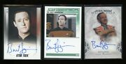 Brent Spiner Autograph Lot 3 Cards Star Trek Wars Signed Certified Auto Data