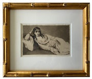 Edouard Manet Odalisque Important Original Etching First And Only Edition 1884