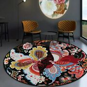Colorful Butterfly Round Carpets Living Room Area Rugs Tapete Play Floor Mat