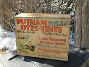 Antique Putnam Fadeless Dyes And Tint Metal Display Advertising Cabinet