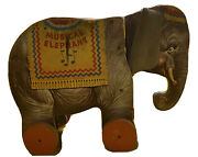 Vintage 1948 Fisher Price Musical Elephant Pull Toy