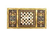 Black Marble Top Dining With Chess Table Inlaid Corridor Decorative Gifts H4012