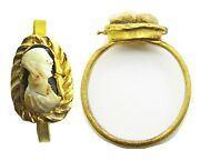 3rd Century Ad Ancient Roman Gold Hardstone Cameo Ring Of An Empress Size 7 3/4