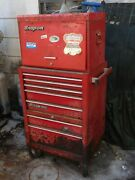 Snap On Kra-58f Top Chest And Kra 380c Chest Tool Box Vintage Orlando
