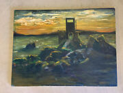 Albert Pinkham Ryder Style Large Abstract Oil Painting Canvas