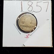 1857 Flying Eagle Cent Penny Coin Acid Restored Worn Condition Pre Civil War Era
