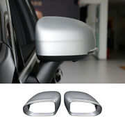 Fit For Volvo Xc60 2018-2021 Matte Silver Rear View Side Door Mirror Cover Trim