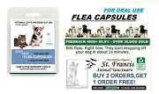 15 Min. Fast Working Small Capsules Flea Killer Control Dogs Cats 16 Doses
