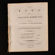 1789 The Rout Sketch Of Modern Life Richard Graves Poem Very Scarce 1st