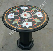18 Marble Black Coffee Table Top Mosaic Inlay And 18 Stand Garden Decors E1384