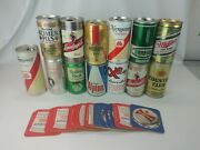 Vintage Beer Can Lot 14 Cans Import And Domestic .. Coors Miller Michelob