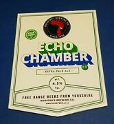 Rooster Brewing Company Echo Chamber Pale Ale Beer Pump Handle Clip Badge 4.5
