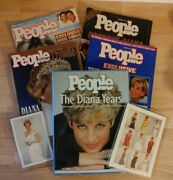 Lot Of 7 Princess Diana Tribute Magazines/book/stamp People Life Biography