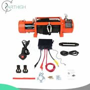 12v Electric Recovery Winch Synthetic Rope 13000lbs 26m Truck Trailer Offroad