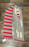 Vintage Cotton Sweater Sock Monkey Scarf