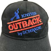 Vintage Knives By Schrade Outback Trucker Snapback Cap/hat . Made In Usa