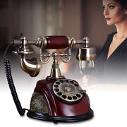 Antique Style Telephones Rotary Dial Phone Old Fashioned Handset Desk Telephone