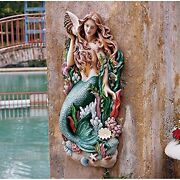 Ng33502 - Melodyand039s Cove Mermaid Wall Sculpture - Over 2and039 Tall