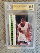 2003 Ud Top Prospects Promo Lebron James P3 Rc Bgs 9.5 Gem Mint Rookie Free Ship