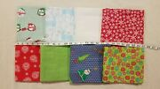 Lot Of 8 Yards Christmas Cocoa Friends Reindeer Snowflake Ornament Cotton Fabric