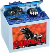 Godzilla Piggy Bank / Put Coins And Pick Them Up By Hand / Battery Operated