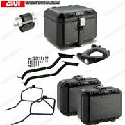 Set Givi Top Case Dlm46b And Dlm30b Motorcycle Guzzi V7 Iii Stone/special 17