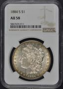 1884-s Morgan Dollar S1 Ngc Au58