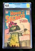 House Of Secrets 1 Cgc 4.0 - Cream To Off-white Pages D.c. Comics 1956
