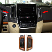 For 16-2021 Toyota Land Cruiser Wood Grain Central Console Air Outlet Vent Trim