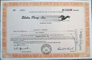 And039western Racing Inc.and039 1958 Greyhound Dog Vignette Stock Certificate