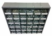 2540 Pcs Metric Class 10.9 Nut Bolt And Washer Assortment With Metal Storage Bin