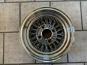 Vintage Appliance Spoke Wire Wheel 14 X 6 With 4 On 4 3/4 And Bs 3 1/2 Nice