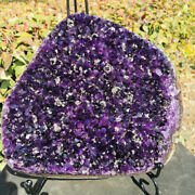 Large Amethyst Cluster Geode From Uruguay Cathedral Crystal Specimen
