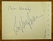 Rose Kennedy President John F. Kennedyand039s Mother Signed Album Page With Jsa Coa