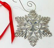 Authentic And Co Sterling Silver 2000 Snowflake Large Ornament Christmas +
