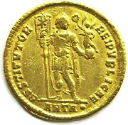 364 - 375 Ad Roman Gold Solidus Of Emperor Valentinian Minted In Antioch